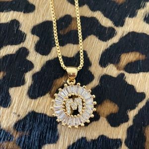 Jewelry - Monogram M Initial Gold Necklace